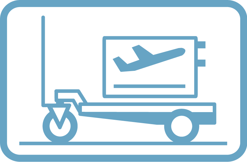 Pictogram for Ground Support Equipment, aviation tools and aircraft system engineering