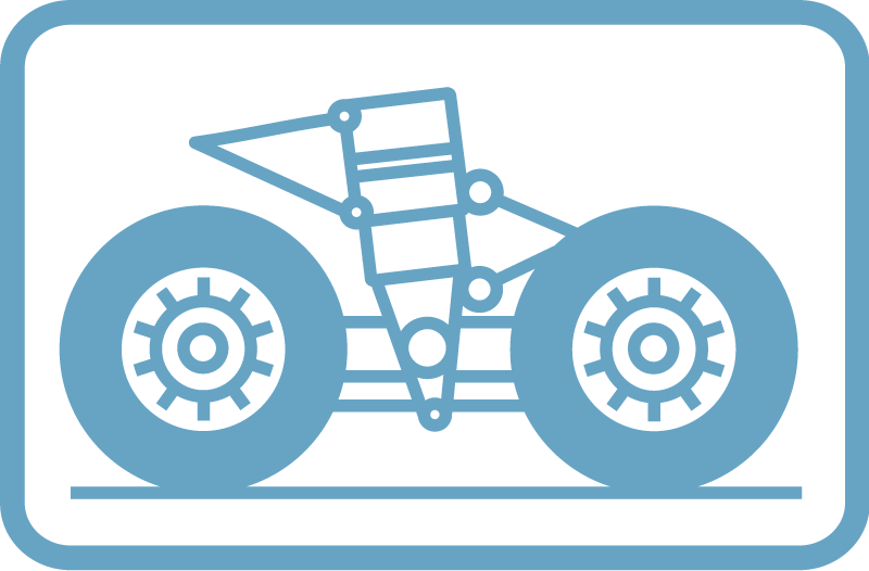 Pictogram: aircraft wheel service equipment