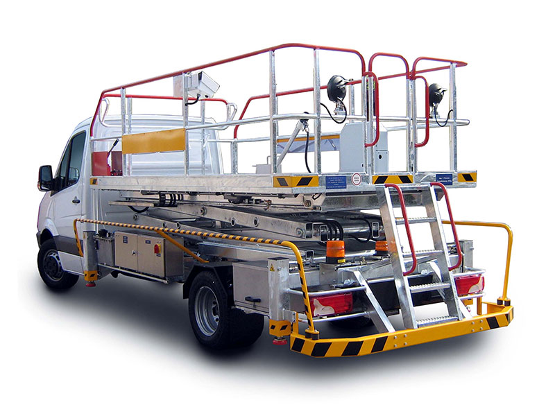 Scissor Lifts, Hoisting Platforms, Lift trucks and Catering vehicles
